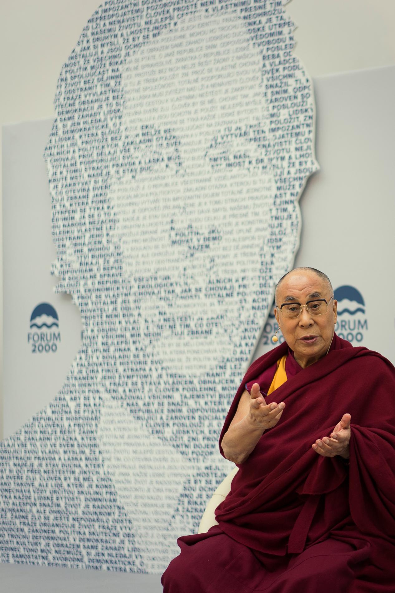 fotografie - Forum 2000 - Dalajláma