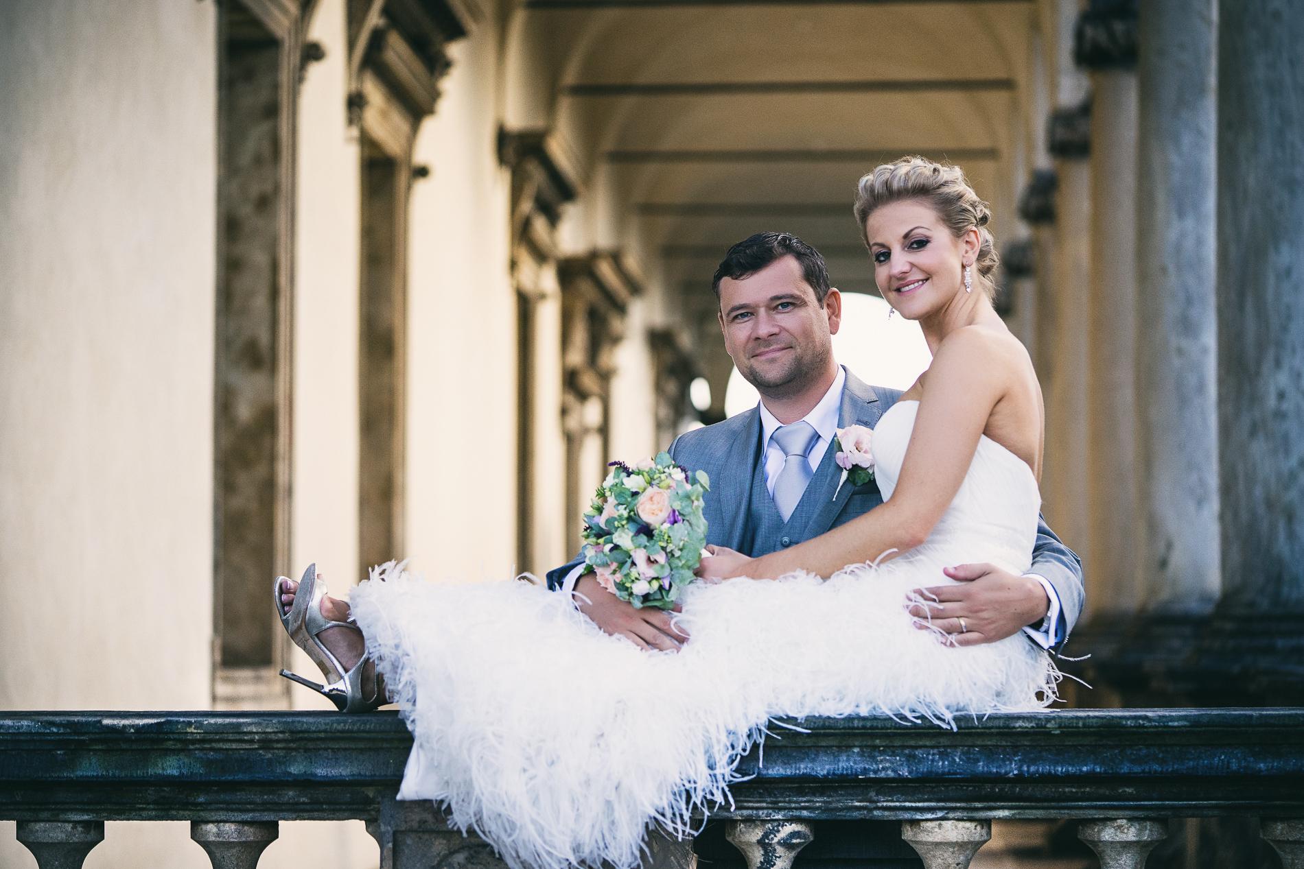 svatba na Letenském zámečku