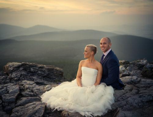 Svatba Veroniky a Míry na Ještědu